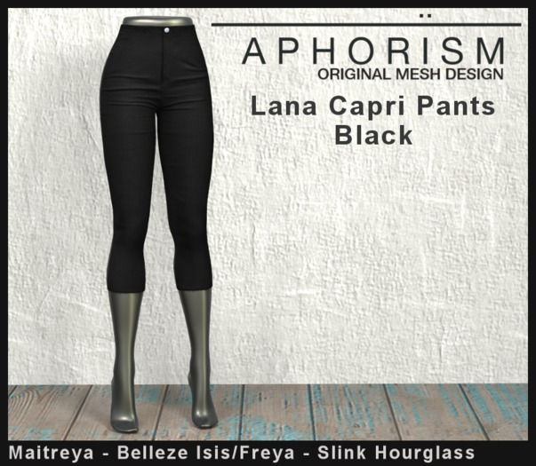 !APHORISM! Lana Capri Pants - Black