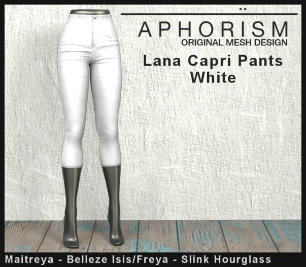 !APHORISM! Lana Capri Pants - White