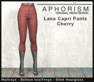 !APHORISM! Lana Capri Pants - Cherry