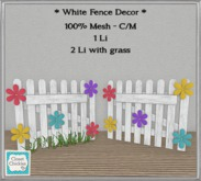 *CC* White Spring Fence Set [boxed]