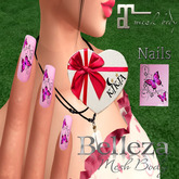 Nails Butterfly Pink MBT2