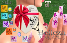 Nails Butterfly all colors HUD MBF