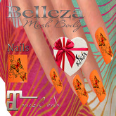 Nails Butterfly Orange 1MBF