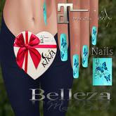 Nails  Butterfly Sky Blue T1MBF