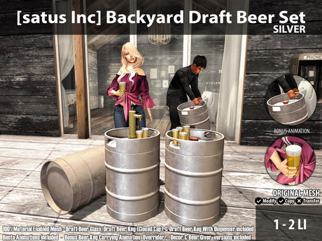 [satus Inc] Backyard Draft Beer Set Silver