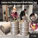 satus inc  backyard draft beer set silver ad