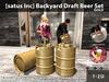 [satus Inc] Backyard Draft Beer Set Gold