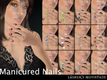 Manicured Coloured Nails Bundle - Resell