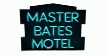 BUENO-Master Bates Motel Sign -Blue