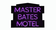 BUENO-Master Bates Motel Sign -Purple