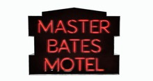 BUENO-Master Bates Motel Sign -Red