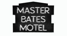 BUENO-Master Bates Motel Sign -White