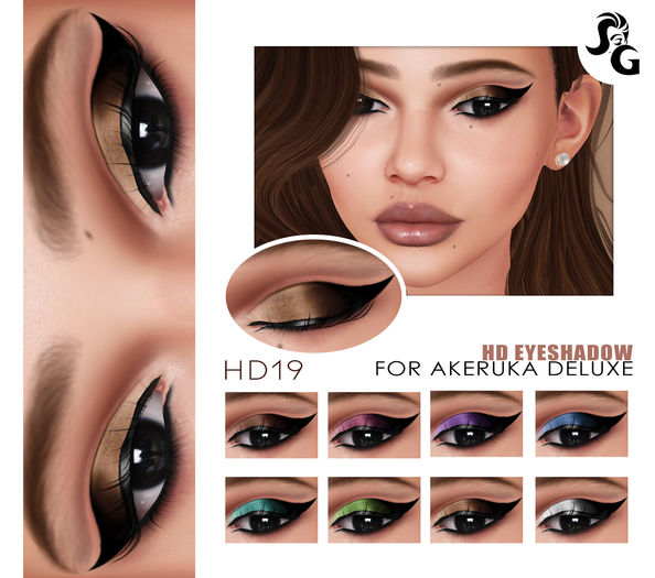 ::SG:: HD19 Eyeshadow for AKERUKA DELUXE HEADS ONLY!