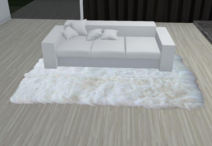 Plush rug white gift