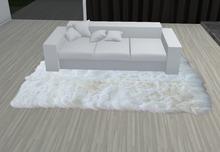 tapete branco fofo