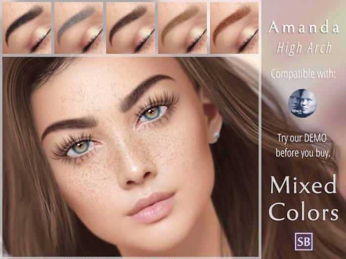 Eyebrows, Genus: Amanda.HighArch.MixedColors