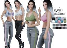 Eyelure Bralette and Side Stripe Pants  w/Fatpack HUD -  MEGA Pack of 20