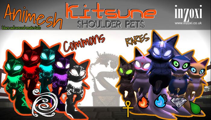 [inZoxi] - Animesh Shoulder Pets - Kitsune - PLAYABLE GACHA -