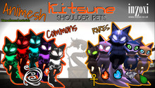 [inZoxi] - Animesh Shoulder Pets - Kitsune - PLAYABLE GACHA -