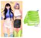 MIWAS / Freyja Leather Skirt #NeonGreen