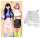 MIWAS / Freyja Leather Skirt #White