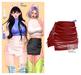 MIWAS / Freyja Leather Skirt #Red
