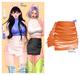 MIWAS / Freyja Leather Skirt #Orange