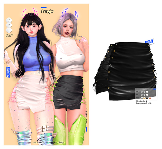 MIWAS / Freyja Leather Skirt #Black
