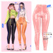 MIWAS / Emily Leather Pants #BabyPink
