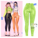 MIWAS / Emily Leather Pants #NeonGreen