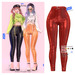 MIWAS / Emily Leather Pants #Red