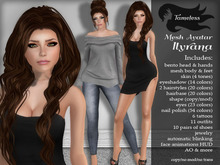 Tameless Complete Mesh Avatar Ilyrana *BONUS skin appliers for Slink, Belleza, Maitreya, & Omega Advanced*