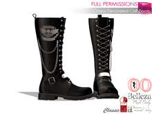 %50SUMMERSALE Full Perm Rigged Chains Decorated Calf Boots For Maitreya, Slink, Belleza, Ocacin And Classic Avatars