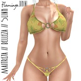Paper.Sparrow Flamingo Yellow Bikini