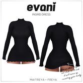 evani. - Ingrid dress / black /