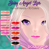 ~Dollypop~ Baby Angel Lips for ASR Heads - 10 Colors