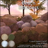 [DDD] Beach Boulders - 9 x 4 tex, 1 land impact mesh rocks