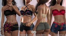 STELLA Female COLOR TOP FATPACK - MESH - Maitreya Lara, Belleza Freya - FashionNatic