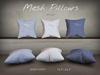 "Mesh Pillows ""Birdie"" - Set of 6 - Blues"