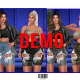 Bermuda. Ripped Shorts DEMO ::Kloss::