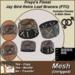 Freya's Finest Jay Bird Retro Leaf Bracer Cuffs - Mesh, Full Texture Change