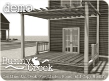 .:.Bunny Creek.:. Continental Linden Homes Deck DEMO