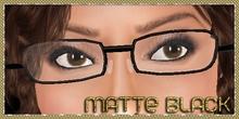 .:Glamorize:. Glasses in Matte Black
