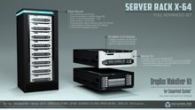 Rack and Server X-64 (FULL SET + Dropbox CasperVend Ready) [NeurolaB Inc.]