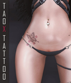 .: TAOX :. TaTToo & Applier // Belly buttefly flowers
