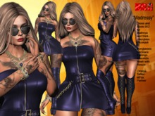 **MADRESSY BLUE VERSION ROCKER STYLE COMPLET OUTFIT **