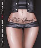 TAOX TaTToo Belly Te Amo & BoM [ Bake on Mesh ] & Appliers Omega Legacy Signature Maitreya Slink Belleza