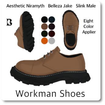 Blackburns for Men Workman Shoes Aesthetic Belleza Slink