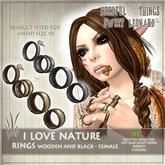 I LOVE NATURE Rings SET