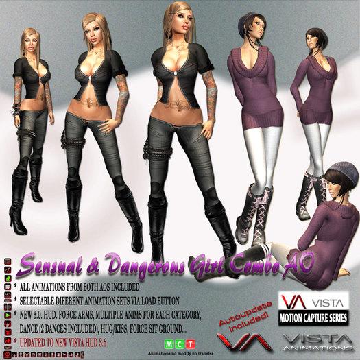 DISCOUNTED! VISTA ANIMATIONS-COMBO THE SENSUAL n DANGEROUS WOMAN AO